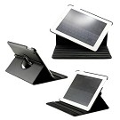 360 Degree Rotating Duel Layer Black Leather case with smart Cover function for The New iPad 3 3rd iPad 2 Gen