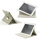 360 Degree Rotating Duel Layer Gray Leather case with smart Cover function for The New iPad 3 3rd iPad 2 Gen